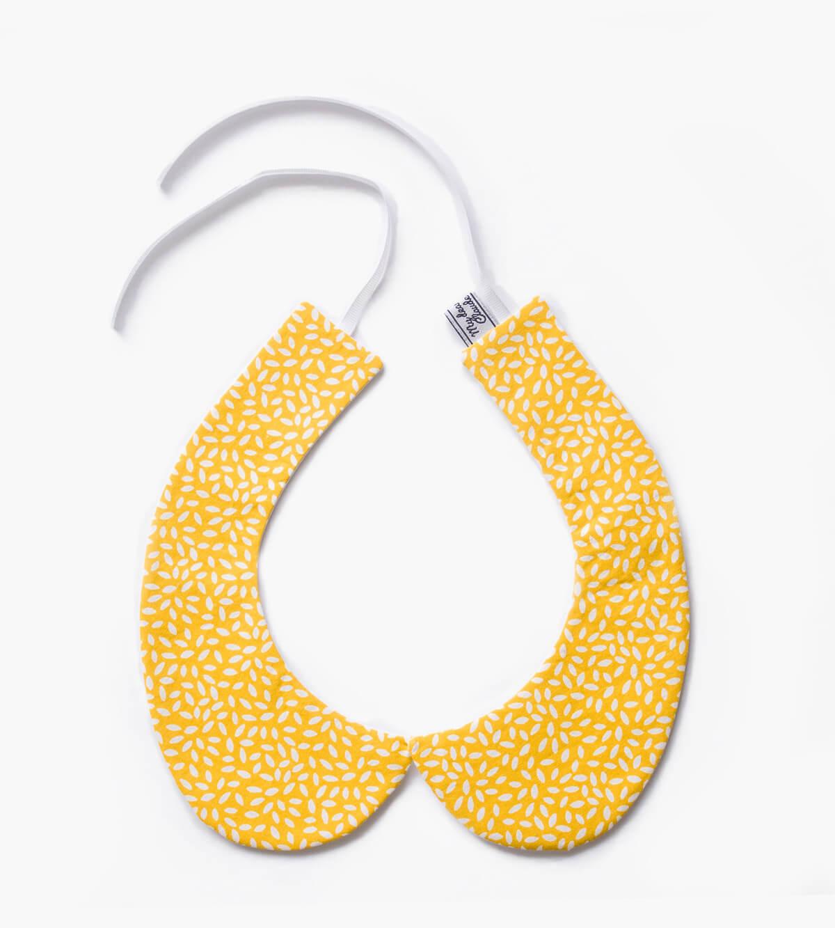 col Claudine amovible jaune tournesol