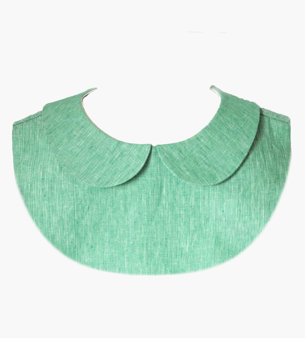 col claudine plastron vert lin