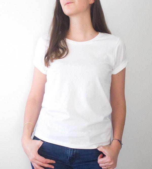 t-shirt en coton bio blanc