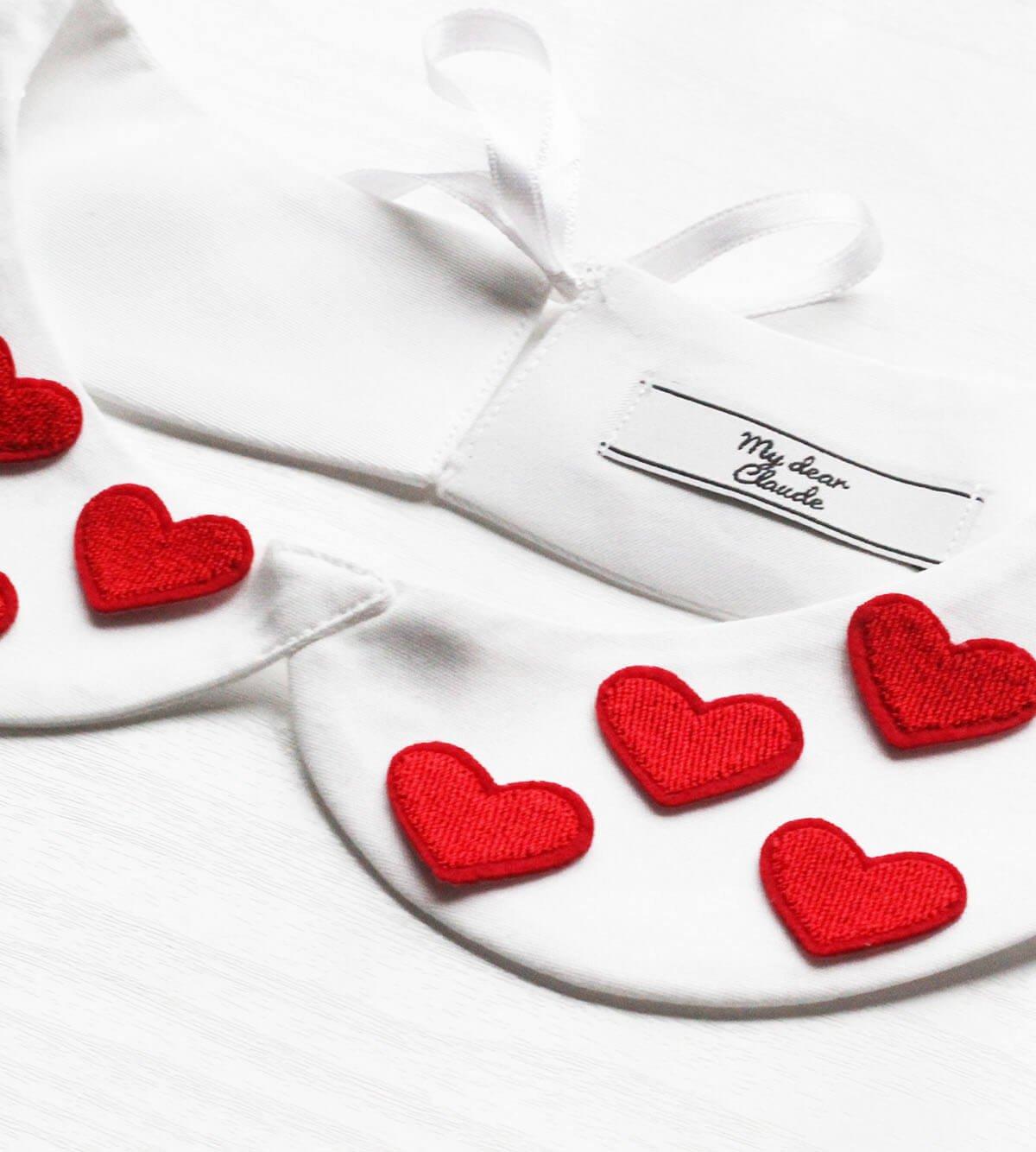 saint valentin col blanc coeur