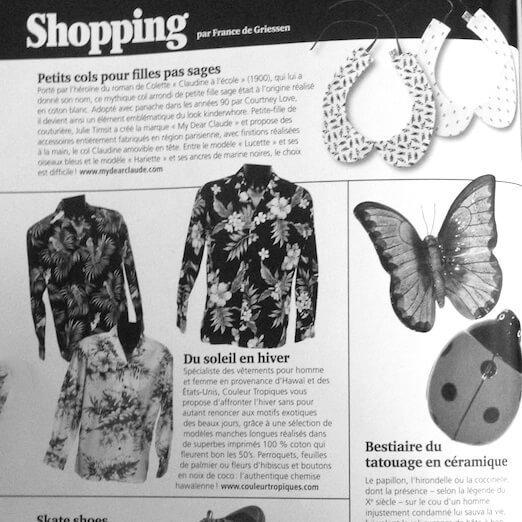 Tatouage magazine parle des cols amovibles My dear Claude