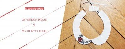 collaboration avec La french pique col amovible brodé