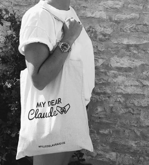 tote bag my dear claude